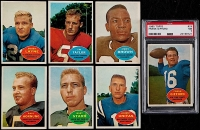 1960 Topps Football Complete Set of (132) Cards with #74 Frank Gifford (PSA 7), #23 Jim Brown, #1 Johnny Unitas, #51 Bart Starr, #54 Paul Hornung, #56 Forrest Gregg RC (PSA 5)