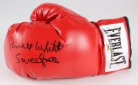 "Pernell Whitaker Signed Everlast Boxing Glove Inscribed ""Sweet Pea"" (MAB Hologram)"