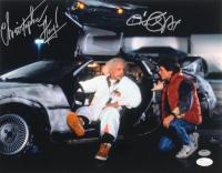 "Michael J. Fox & Christopher Lloyd Signed ""Back to the Future"" 11x14 Photo (Schwartz COA & JSA COA)"