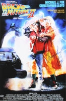 "Christopher Lloyd Signed ""Back To The Future II"" 12x18 Movie Poster (JSA Hologram)"