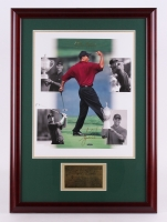 "Tiger Woods Signed 23.5"" x 32.5"" Custom Framed Photo Display (Upper Deck COA)"