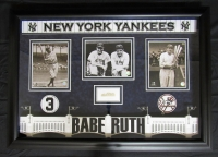 "Babe Ruth Signed Yankees 42"" x 30"" x 4"" Shadowbox Cut Display (JSA LOA)"