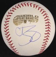 Curt Schilling Signed 2007 World Series Logo Baseball (Steiner COA)