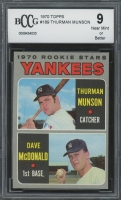 Thurman Munson 1970 Topps #189 Rookie Stars RC (BCCG 9) at PristineAuction.com