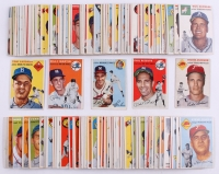 Partial Set of (175/250) 1954 Topps Baseaball Cards with #132 Tommy Lasorda RC, #17 Phil Rizzuto, #20 Warren Spahn, #13 Billy Martin,  #45 Richie Ashburn