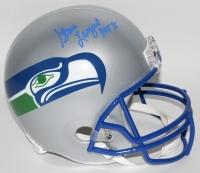 """Steve Largent Signed Seahawks Full-Size Helmet Inscribed """"HOF 95"""" (Radtke COA)"""