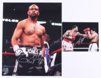 Lot of (2) Signed Boxing Photos with (1) Ray Jones Jr. & (1) Larry Holmes (Schwartz COA)