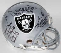 """Ken Stabler Signed LE Raiders Full-Size Authentic Pro-Line Helmet with Hand Drawn """"Sea of Hands"""" AFC Playoffs Play & Multiple Inscriptions (Radtke COA)"""