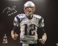 "Tom Brady Signed LE Patriots ""Scream"" Spotlight 32"" x 40"" Stretched Canvas Inscribed ""SB 49 MVP"" (TriStar & Steiner COA)"