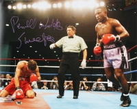 """Pernell Whitaker Signed 16x20 Photo Inscribed """"Sweet Pea"""" (MAB Hologram)"""