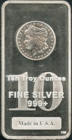 10 Troy oz .999 Fine Silver Bullion Bar