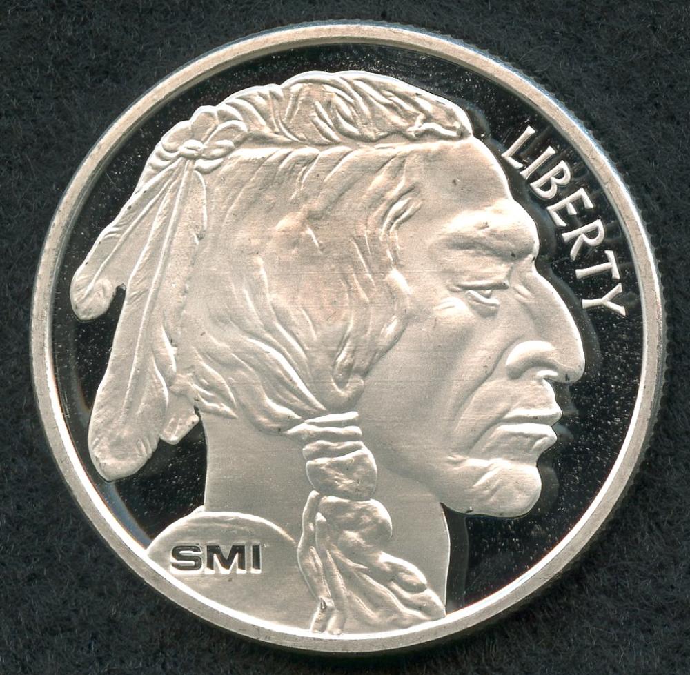 1 oz silver indian head coin
