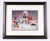 "Muhammad Ali Signed ""The Greatest"" LE 27.75"" x 24"" Custom Framed Animation Serigraph Cel (Warner Bros. COA)"