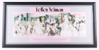 "LeRoy Neiman Signed ""Polo Lounge"" 21x43 Custom Framed Print Display (JSA COA)"