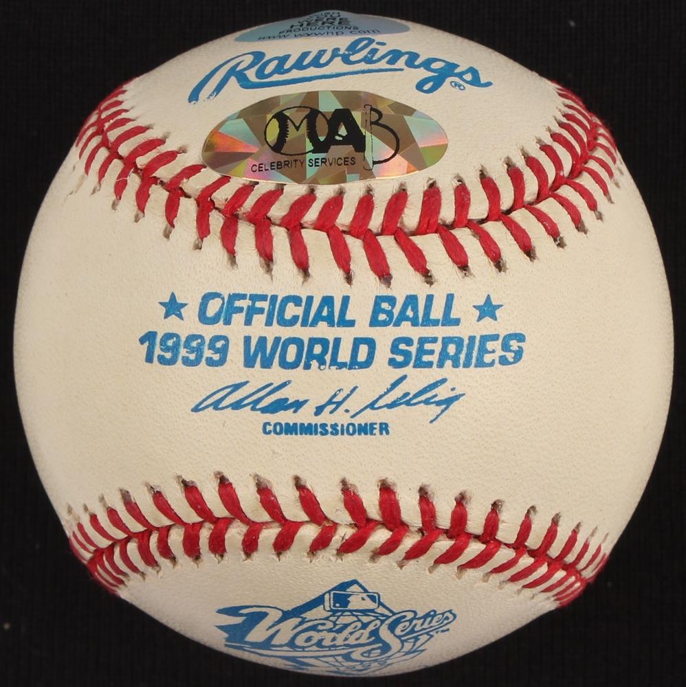 David Cone Signed 1999 World Series Baseball Inscribed