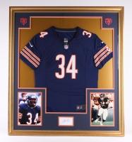 "Walter Payton Signed Bears 35""x39"" Custom Framed Jersey Display (PSA)"