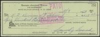 Sam Snead Signed Vintage 1973 Check (JSA COA)