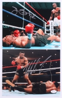 """Lot of (2) Signed Boxing 8x10 Photos with (1) James """"Buster"""" Douglas & (1) Mike Tyson (Schwartz COA)"""