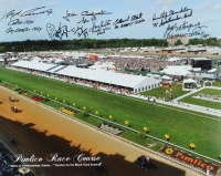 Pimlico Race Course 16x20 Photo Signed by (8) Jockeys Including Stewart Elliot, Jean Cruguet, Angel Cordero Jr. with Multiple Inscriptions (MAB Hologram)