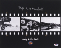 "Lee Kendall Signed ""Lady in the Dark"" P-61 11x14 Photograph (PSA COA) - Pristine Exclusive"