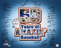"New York Mets ""50 Years of Amazin' Baseball"" 16x20 Team Signed Photo with (39) Signatures Including Dwight Gooden, Darryl Strawberry (MAB Hologram) at PristineAuction.com"
