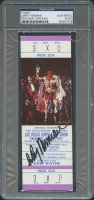 Leroy Neiman Signed 1977 America Honors The Heavweight Champions Las Vegas Ticket Stub with Muhammad Ali (PSA Encapsulated)