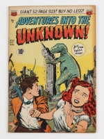 """Vintage 1950 """"Adventures into the Unknown"""" Issue #13 American Comic Group Comic Book"""