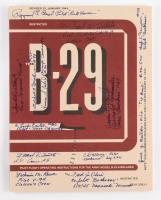 Vintage B-29 Superfort Training Manual Signed by (13) WWII Veterans with Paul Tibbets (Enola Gay - pilot), CW Albury (Bockscar co-pilot), Fred Olivi (Bockscar - co-pilot) with Inscriptions (PSA LOA)
