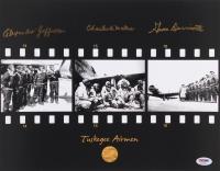 Charles McGee, Eugene Derricotte & Alexander Jefferson Signed Tuskegee Airmen 11x14 Photo (PSA LOA)