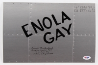 "Russell Gackenbach Signed 8x12 Original Hand-Painted B-29 ""Enola Gay"" WWII Nose Art With (3) Inscriptions (PSA COA)"