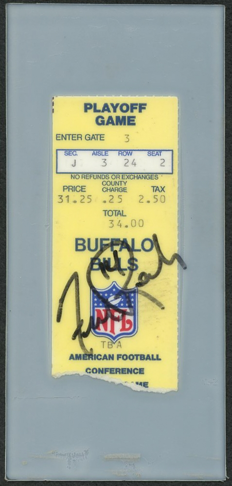 Online sports memorabilia auction pristine auction - Buffalo bills ticket office ...