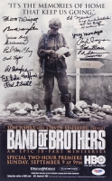 """Band of Brothers"" 8.75"" x 14"" Poster Print Signed by (14) Veterans with William Guarnere, Ed Mauser, Lynn Compton (PSA LOA)"