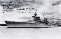 "USS Indianapolis 9"" x 14"" Photo Signed by (10) Veterans with Gerald Poor, Verlin Fortin, Lyle Umenhoffer (PSA LOA) at PristineAuction.com"