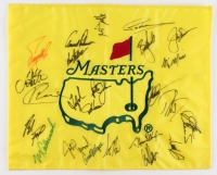 Masters Championship Pin Flag Signed by (24) with Arnold Palmer, Ben Crenshaw, Tome Kite, Greg Norman, Fred Couples (JSA LOA)