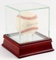Pete Rose Signed ONL Baseball with Display Case (JSA COA)