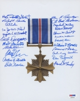 Distinguished Flying Cross 8x10 Photo Signed by (23) with Donald Strait, Steve Pisanos, RE Cole, Charles Mcgee, Joe McPhail (PSA LOA)
