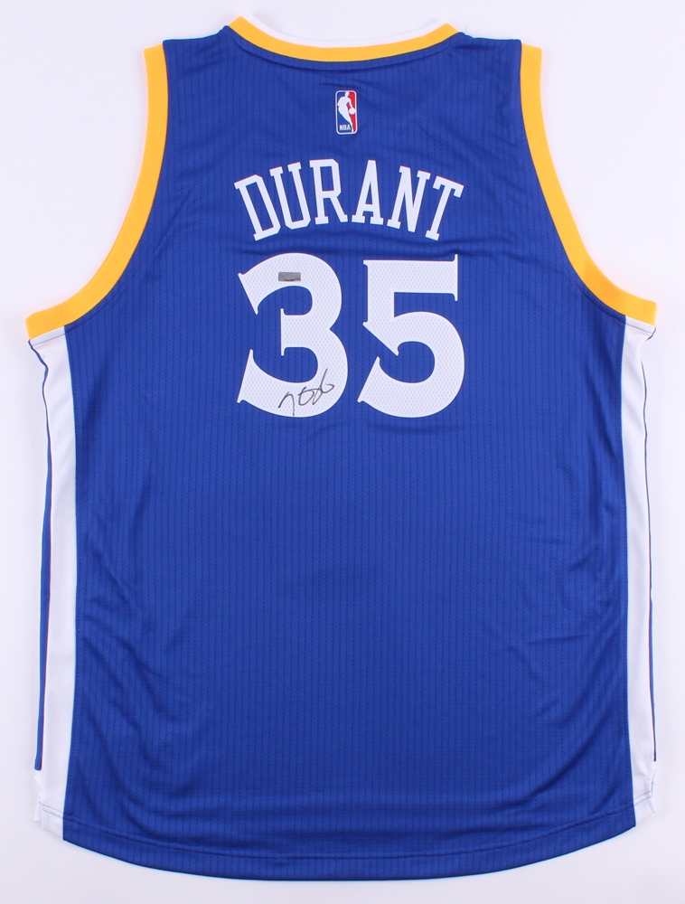 54567a3350c Kevin Durant Signed Warriors Throwback Authentic Adidas Swingman Jersey (Panini  COA)