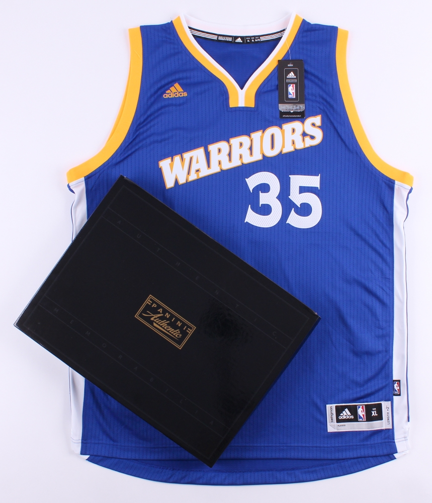 22843f8252b Kevin Durant Signed Warriors Throwback Authentic Adidas Swingman Jersey (Panini  COA) at PristineAuction.