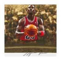 "Wayne Gretzky, Michael Jordan & Tiger Woods Signed LE ""Icons of Sport"" 48"" x 24"" Print (UDA COA) at PristineAuction.com"