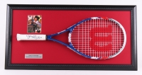 "Jimmy Connors Signed 16""x32"" Custom Framed Tennis Racket Display (JSA COA)"