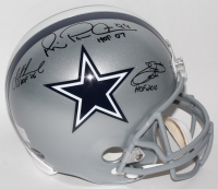 Emmitt Smith, Troy Aikman & Michael Irvin Signed Cowboys Full-Size Helmet with HOF Inscriptions (Smith, Irvin & Aikman Holograms) at PristineAuction.com