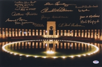 "WWII Veterans Memorial 18"" x 12"" Photo Signed by (13) with Bud Anderson, Bernard Nolan, Don Jakeway, Hershel Williams (PSA LOA)"
