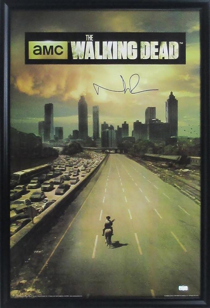 ... u0026quot;The Walking Deadu0026quot; 27x39 Custom Framed Poster Display (Schwartz COA