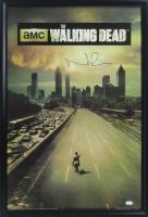 "Norman Reedus Signed ""The Walking Dead"" 27x39 Custom Framed Poster Display (Schwartz COA)"