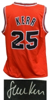 Steve Kerr Sigend Red Custom Basketball Jersey at PristineAuction.com