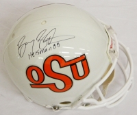 Barry Sanders Signed Oklahoma State Riddell T/B Proline Helmet w/Heisman'88 at PristineAuction.com