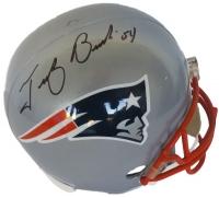 Tedy Bruschi Signed Patriots Full-Size Helmet (JSA COA)