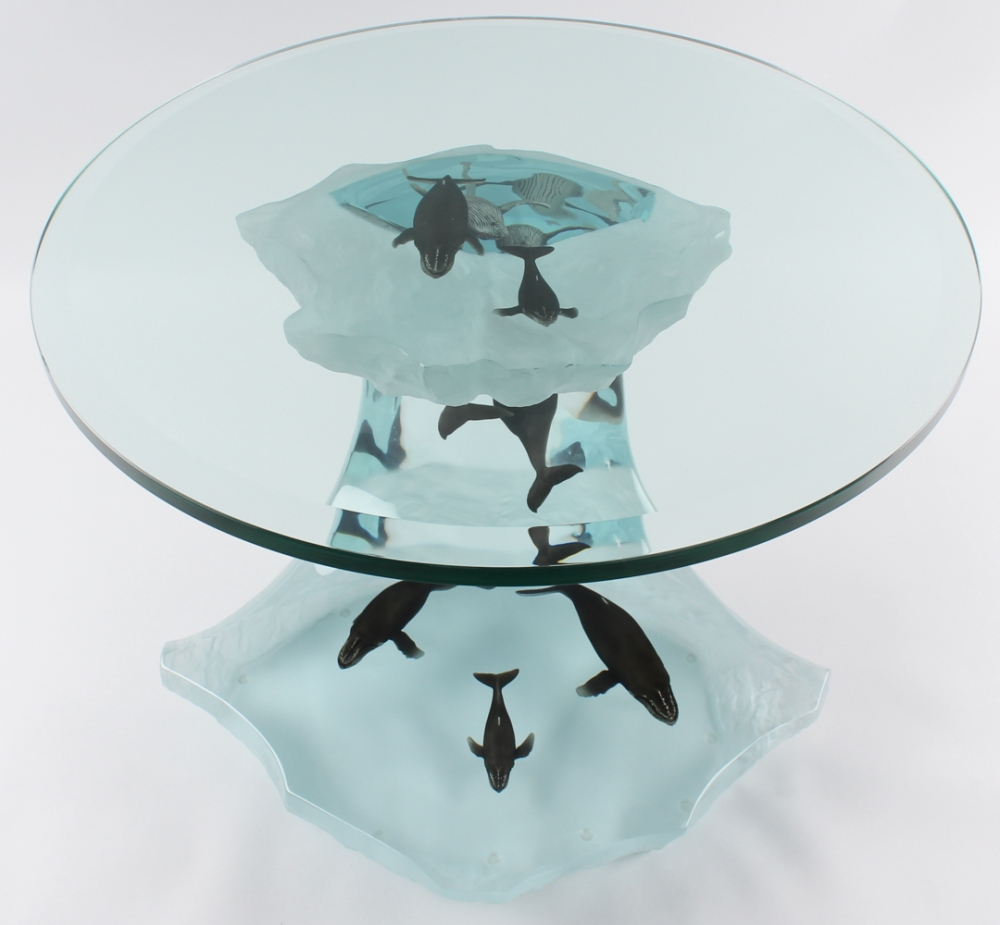 Ordinaire ... Wyland Humpback Wave Lucite Table Sculpture Ap Artist Proof At  Pristineauction Com ...