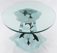 Wyland Humpback Wave Lucite Table Sculpture #AP (Artist Proof)