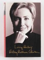 """Hillary Clinton Signed """"Living History"""" Hardback Book (PSA LOA)"""